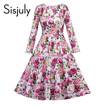 Floral Print Elegant Party Dresses