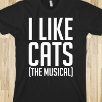 I LIKE CATS (THE MUSICAL) WHITE FONT