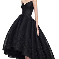 Embroidered Organza Gown by Zac Posen - Moda Operandi
