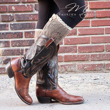 Womens Legwarmers Cable Knit Boot Socks With Lace Boot Cuffs Button Style Legwarmers Fall Boot Socks My Fashion Creations
