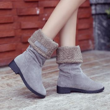 Hot Deal On Sale Winter Cotton Suede Boots [47583854599]