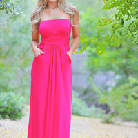 Candy Shop Maxi Dress - Fuchsia