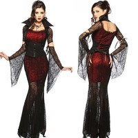 Gothic Sexy Costume Halloween Dress Costume Sexy Witch Vampire Costume Women Masquerade Party Ghost Halloween Cosplay For Women