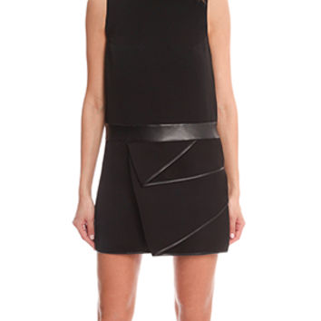 3.1 Phillip Lim Cascading Leather Drape Dress