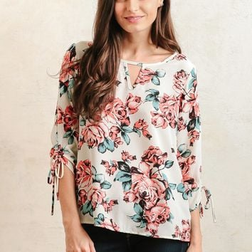 English Cottage Floral Top