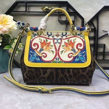 PEAP D&G DOLCE & GABBANA WOMEN'S LEATHER MISS SICILY HANDBAG SHOULDER BAG