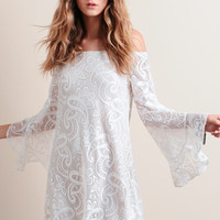 Copacabana Off-Shoulder Lace Dress