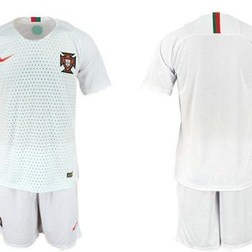 Nike Portugal Authentic Away Jersey 2018 Suit A1010456 White Vapor Green