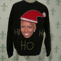 Ne Ne Leakes Ugly Christmas Sweater Real Housewives of Atlanta Dont be Tardy for the Ugly Christmas Sweater Party Ships Priority Mail