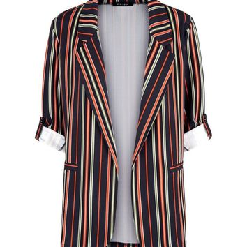 Multi Coloured Stripe Blazer | New Look