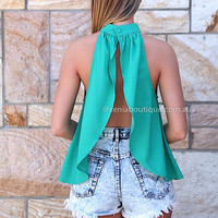ADDICTION TO LOVE TOP , DRESSES, TOPS, BOTTOMS, JACKETS & JUMPERS, ACCESSORIES, 50% OFF SALE, PRE ORDER, NEW ARRIVALS, PLAYSUIT, COLOUR, GIFT VOUCHER,,Green,BACKLESS,SLEEVELESS Australia, Queensland, Brisbane