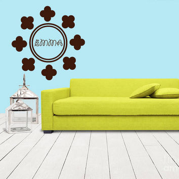 rvz1106 Wall Decals Sticker Bedroom Kids Nursery Baby Custom Name Monogram Personalized Sign Words