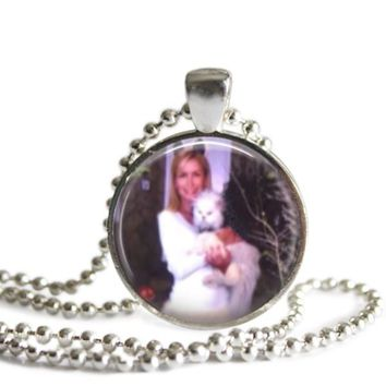The Office Angela and Sprinkles 1 Inch Silver Plated Pendant Necklace Handmade
