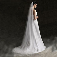 New Ivory Single Layer Floor Length Bridal Veil with Comb
