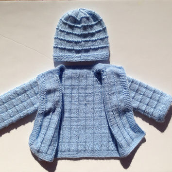 376793d70 Hand Knitted Baby Boy Cardigan - Sweater from olinnell on Etsy