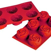 Fat Daddio's 3.89-Ounce Silicone Bakeware, Rose
