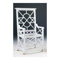 Iron Chinese Chippendale Star Back Chair