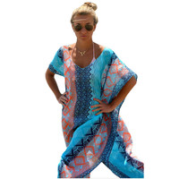 Summer Dress Women Long Boho Maxi Hippie Bohemian Dresses Sun S2248