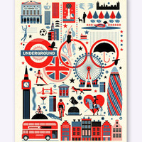 Urban Outfitters  - East End Prints: London Olympics By Dieter Braun