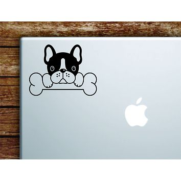 French Bulldog Dog Laptop Wall Decal Sticker Vinyl Art Quote Macbook Apple Decor Car Window Truck Kids Baby Teen Inspirational Girls Boys Frenchie Cute Puppy Animals