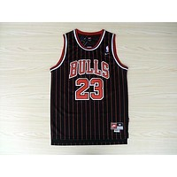 Michale Jordan Jersey Chicago Bulls 23 Black Red Stripe