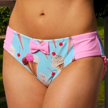 Ice Cream Shop Ruffle Hipster Bottom Custom Made