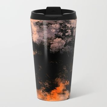 Digital art 5 Metal Travel Mug by Lionmixart