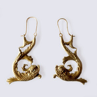 Diving Dolphin Earrings, Large