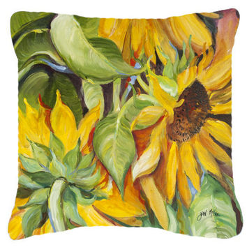 Sunflowers Canvas Fabric Decorative Pillow JMK1266PW1414