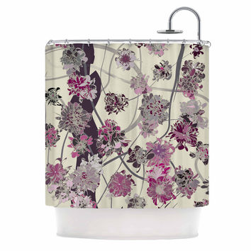 "Angelo Cerantola ""Springtime Again"" Pink Floral Shower Curtain"