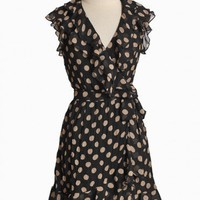 Belleza Dusk Polka Dot Wrap Dress | Modern Vintage Dresses