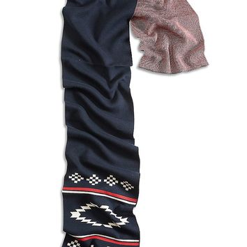 Lucky Brand Motif End Scarf Womens - Multicolor (One Size)