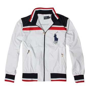 POLO RALPH LAUREN 2018 autumn and winter new men's fashion wild loose cardigan jacket White