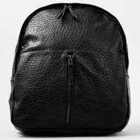Premium Black Leather Look Backpack - Men's Bags & Backpacks - Shoes and Accessories