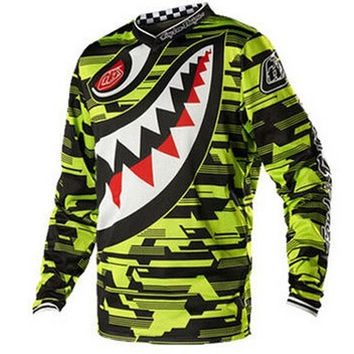 Limited Mart New 2014 2015 Men Motorcycle Motocross Racing DH Downhill MX MTB Free T Shirt Jersey Racing Cycling Sports Wear [9325859588]