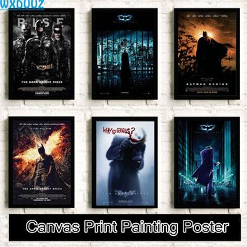 Batman quality Home Decor Movie Reying Art Decor living room posters Reying wall art canvas painting No Frame K9