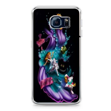 Alice In Wonderland Phone Case Cover (Fits Samsung Galaxy S6/S6 Edge/Plus) Black