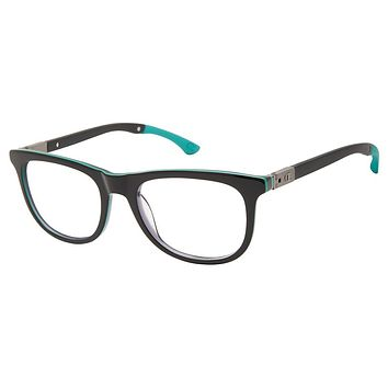 Champion - 3Ring 50mm Black Green Eyeglasses / Demo Lenses
