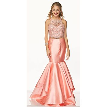 b316532b17d Juliet 631 Jewel Embellished Mermaid Style Two-Piece Prom Dress