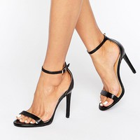 Public Desire Avril Black Barely There Heeled Sandals at asos.com