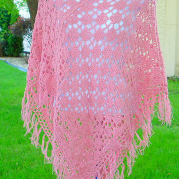 Poncho Crochet Two Rectangle Easy Pattern