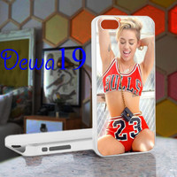 Miley cyrus Chicago Bulls 23 NBA For iPhone 4/4S, iPhone 5 / iPhone 5S / iPhone 5c and Samsung Galaxy S3/S4 Case/Cover