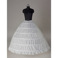3/6 Hoops White Petticoat Wedding Dress Crinoline Underskirt Crinolin Slips