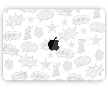 Comic Series / Comic Book Actions V2 - Apple MacBook Pro, Pro with Touch Bar or Air Skin Decal Kit (All Versions Available)
