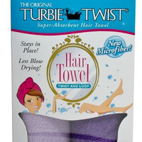 Turbie Twist Microfiber Hair Towel (2 Pack) Light Purple - Dark Purple