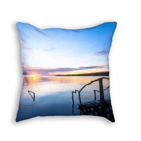 Lake Sunrise throw pillow