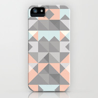 Triangular Pattern iPhone Case by Leandro Pita | Society6