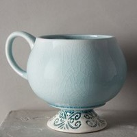 Chilled Sky Mug by Anthropologie Green Mug/cup Mugs