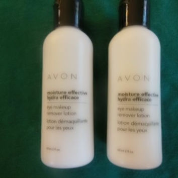 Set of 2 Avon Moisture Effective Eye Makeup Remover Lotion