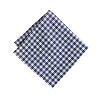 J.Crew Mens Cotton Pocket Square In Gingham